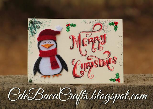 Handmade Christmas card by CdeBaca Crafts.