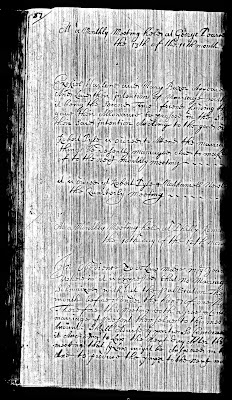 Ezekial Harlan & Mary Bazer, Marriage Intention,  13 Jan 1700 (the 13th of  the 11th month 1700)  Minutes of Concord Monthly Meeting, Delaware PA