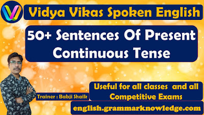 50+ Sentences Of Present Continuous Tense