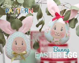 Easter egg Bunny pattern sewing tutorial