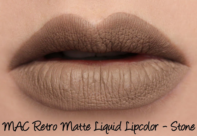 MAC Retro Matte Liquid Lipcolour - Stone Swatches & Review