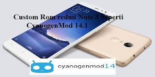 custom rom redmi note 3 pro