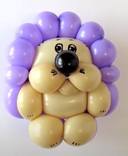 Kleiner Igel als Ballontier zur Ballondekoration.