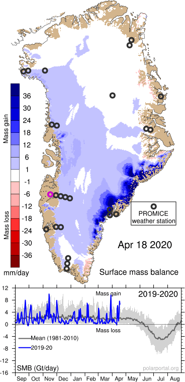 GREENLAND HAS GAINED 27+ GIGATONS OF SNOW AND ICE OVER THE PAST 5 DAYS ALONE — MSM SILENT