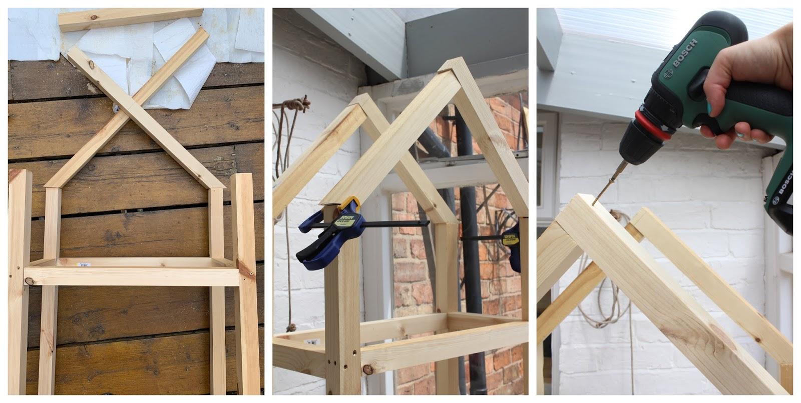 How to create a house shape with wood