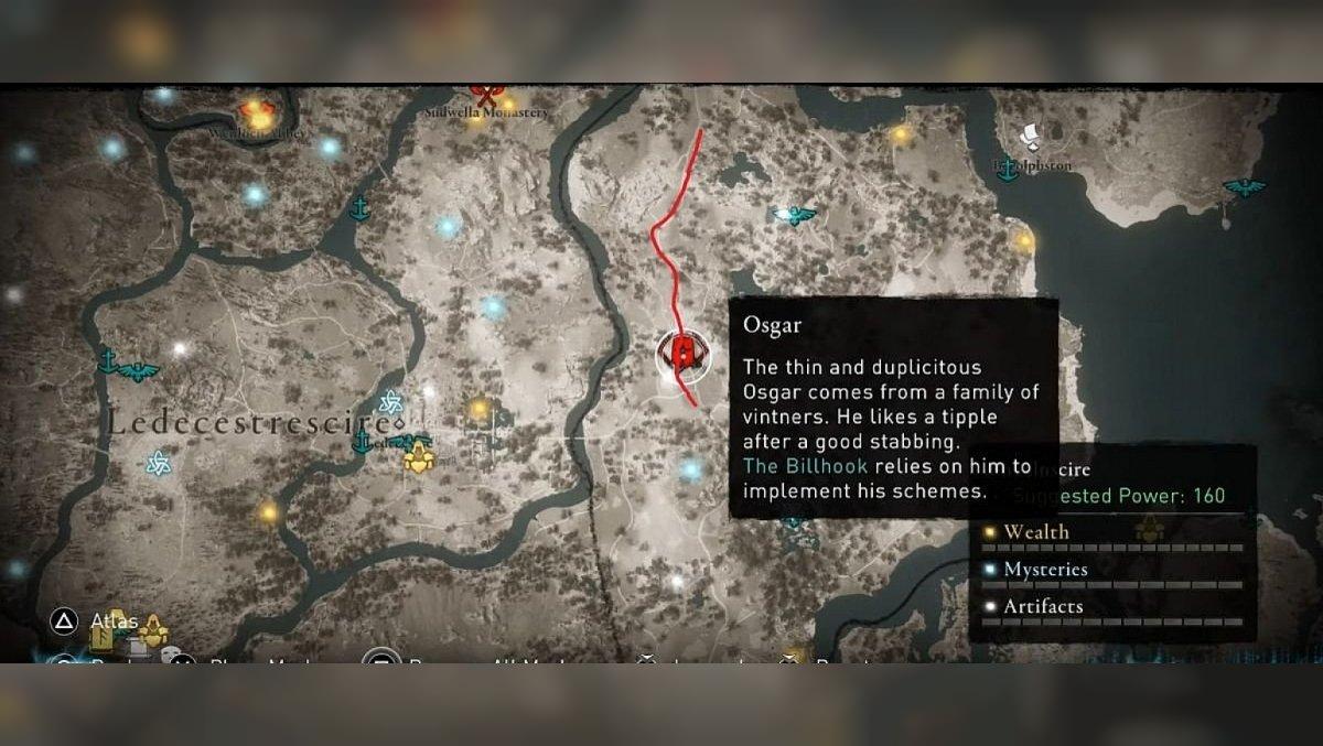 Osgar Lincolnscire area. Map
