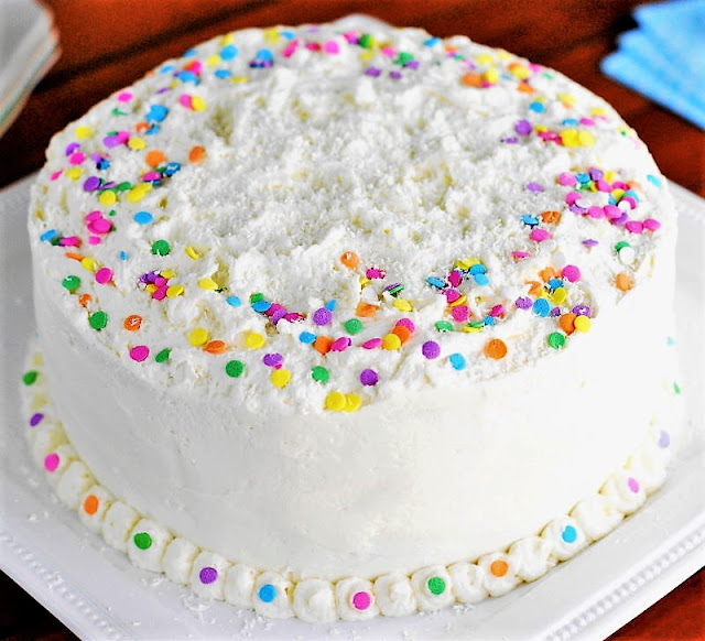 White Chocolate Birthday {or Easter} Cake Image