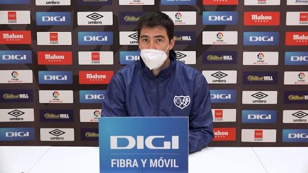 """Iraola - Rayo Vallecano -, sobre el Málaga: """"Es un equipo que está mejor de lo dicen los último resultados"""""""