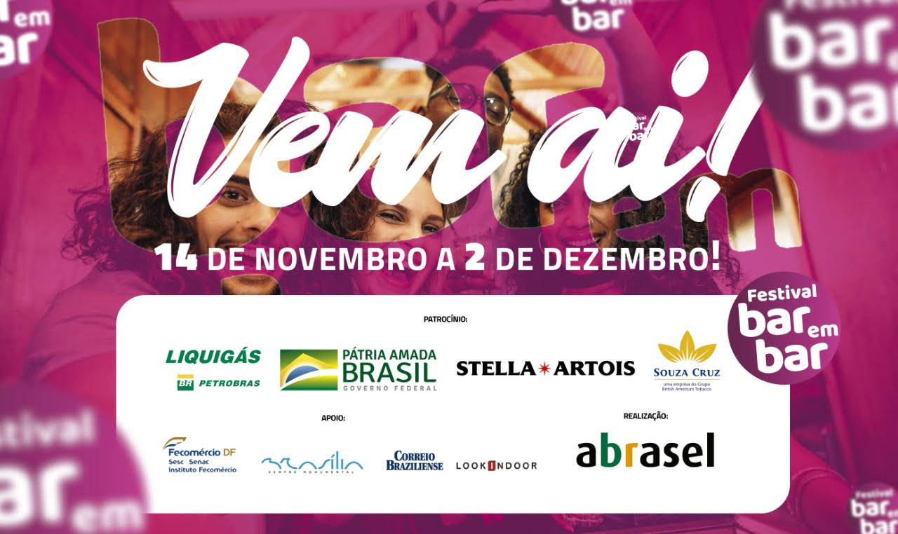 """Vem aí a 13ª edição do Festival Bar em Bar  com o tema """"Bar em Bar é para todo mundo"""""""