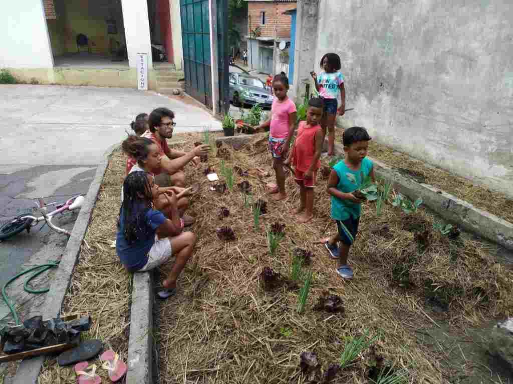 Alimentando a Esperança promove o projeto HORTA COMUNITÁRIA Galpão 1010