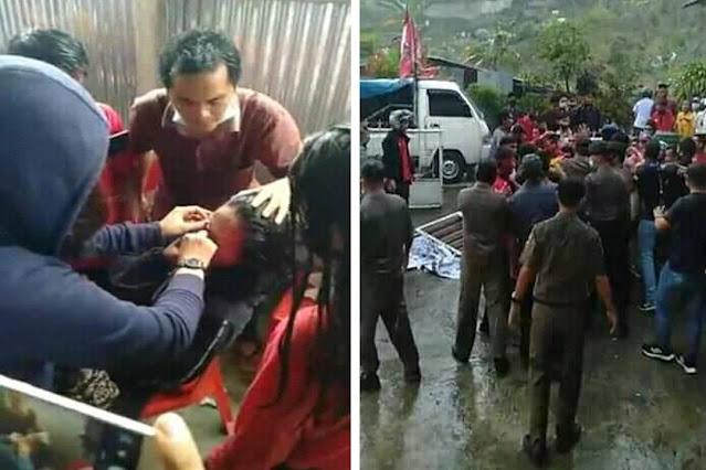 GMKI Gunungsitoli minta Kapolres Nias Menindak Oknum Polisi yang Melakukan Pemukulan Terhadap Peserta Aksi GMNI
