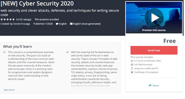 [100% Free] [NEW] Cyber Security 2020
