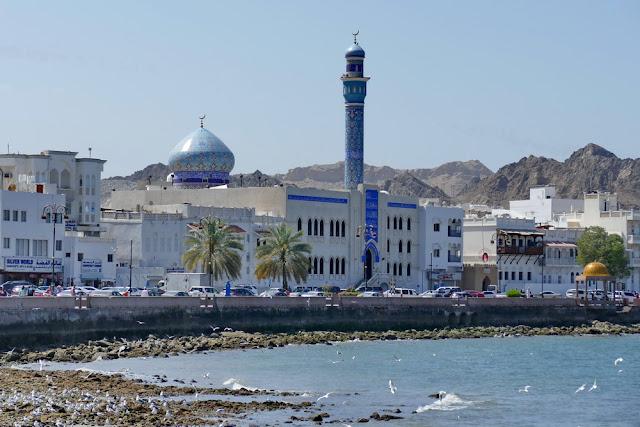 Corniche, Mutrah, Souk, Muscat, Oman, Moschee, schiitisch, Meer