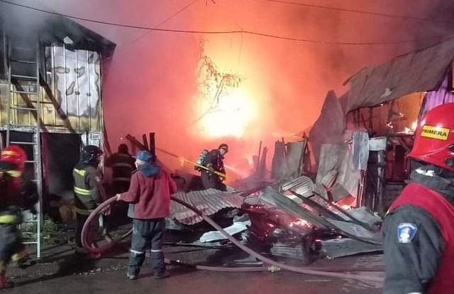 2 fallecidos y 7 viviendas destruidas en la ciudad de Aysén