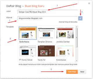 cara daftar blog baru Blogger Pemula