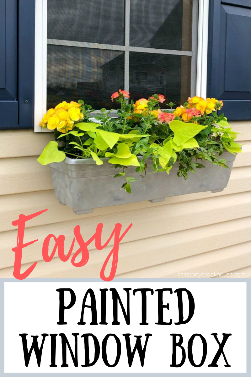 Painted Window Boxes