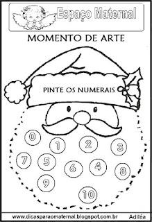 Pintar numerais natal maternal