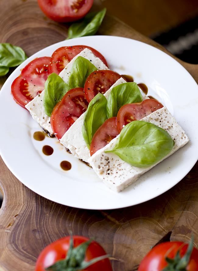 Tofu Caprese Salad