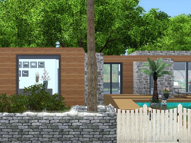maison luxe avec piscine sims 3