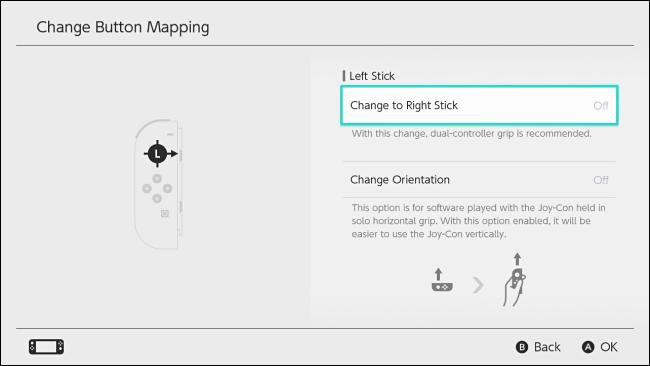 تغيير اتجاه Joy-Con على Nintendo Switch