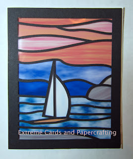 another example sailboat stained glass card sunset