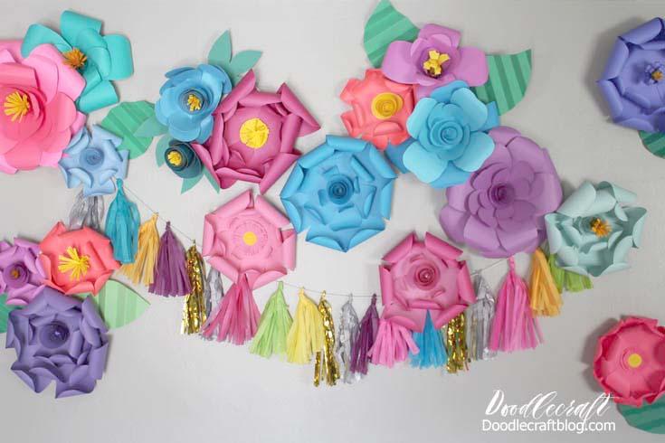 Diy Paper Flower Wall Backdrop