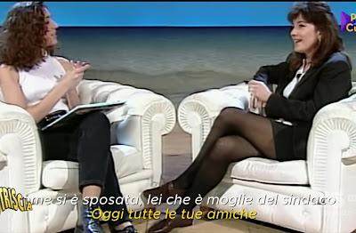 Barbara Palombelli gambe calze ambra Angiolini da giovane non è la Rai