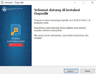Download Aplikasi Dapodikdasmen 2020b Patch 1