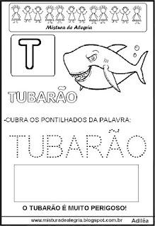 Bichonário desenho de tubarão