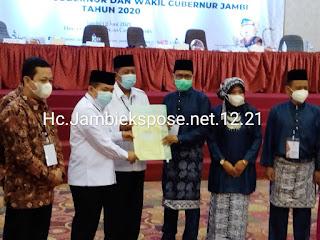 KPUD Provinsi Jambi Tetapkan Pasangan Al Haris Dan Abdullah Sani Terpilih Menjadi Gubernur Jambi Hasil PSU.