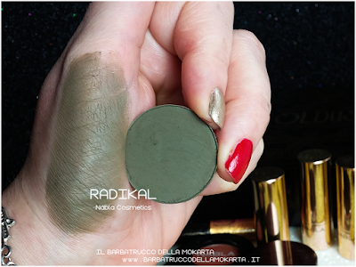 RADIKAL SWATCHES eyeshadow ombretto  goldust collection Nabla cosmetics