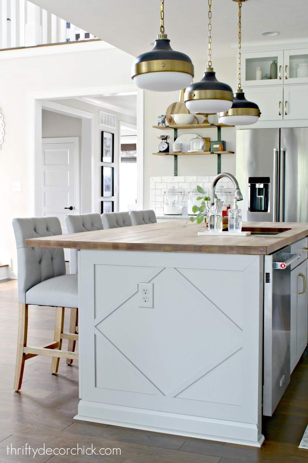 Adding custom detail to a plain kitchen island | Thrifty Decor Chick ...