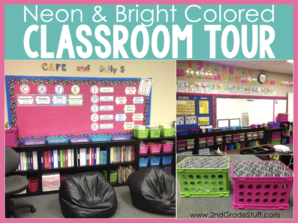 Neon and Bright Classroom Decor | 2nd Grade Stuff