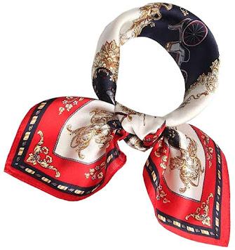 Small Designer Silk Satin Scarves