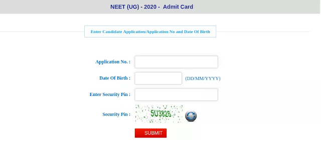 NEET Admit Card 2020, How to Download NEET Admit card 2020