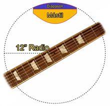 Radio del diapasón de una Guitarra de Estilo Les Paul