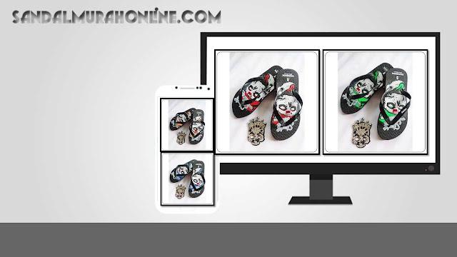 Distributor Sandal Jepit Spon Pria Motif Tengkorak Simplek Karet
