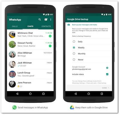 WhatsApp integrado ao Google Drive