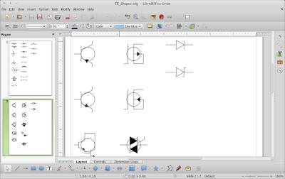 Cara Menggambar Rangkaian Elektronika di LibreOffice Draw