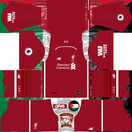 2507d46eb6b LIVERPOOL KIT IN DREAM LEAGUE SOCCER KITS 2019 2020 - KITS FTS