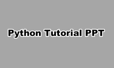 Python Tutorial PPT