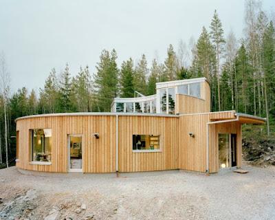 Konsep rumah kayu yang asri