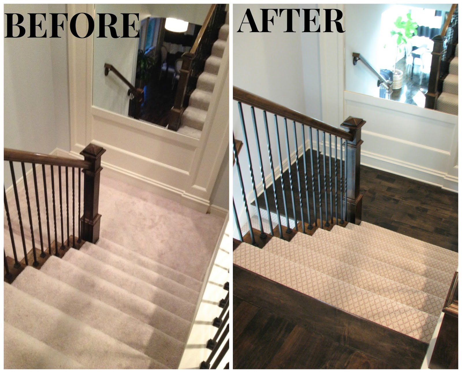 Life Love Larson Completed Hardwoods In Hallway Landing   Best Carpet For Stairs And Landing
