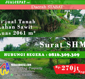Di jual Tanah Lahan Sawit (tidak produktif) daerah Stabat / Langkat <del>Rp 300.000.000,-</del> <price>Rp 270.000.000,-</price> <code>MH-POPHOT8</code>