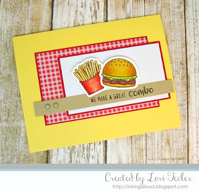 We Make a Great Combo card-designed by Lori Tecler/nking Aloud-stamps from Sunny Studio