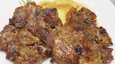 Ideja za Ručak - Teleći Kotleti s Pireom od Batata   Lunch Idea- Veal Chops with Sweet Potato Mash