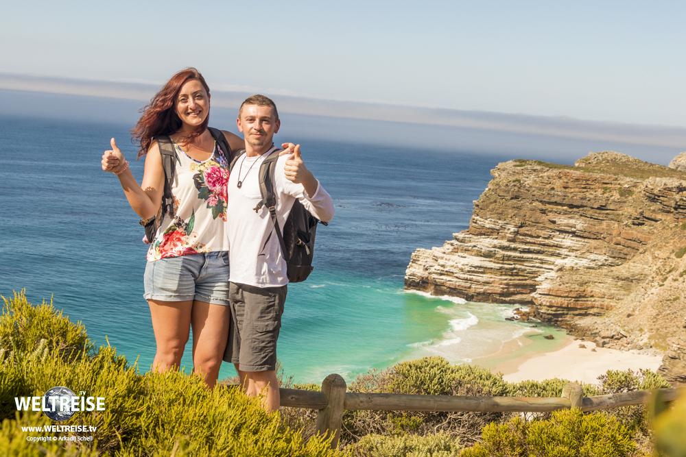 Kap-Halbinsel, Kap der Guten Hoffnung und Cape Point, Arkadij und Katja in Kapstadt, Südafrika auf WELTREISE