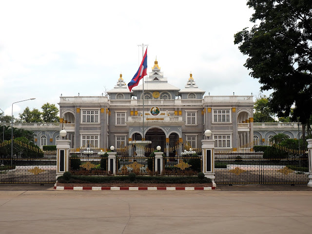 President's palace in Vientiane, Laos