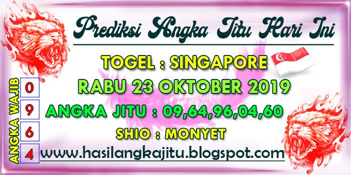 Prediksi Angka Jitu Togel Sgp Rabu 23 Oktober 2019 Syair