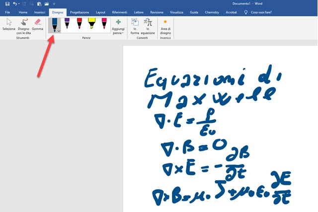 disegnare in word con tavoletta grafica